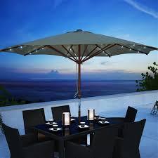 corliving taupe patio umbrella with
