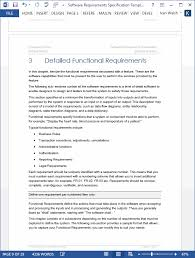 Software Requirements Specification - MS Word template with Use Case
