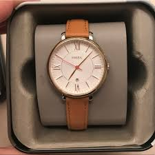 fossil accessories fossil women s leather strap watch