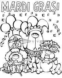 Small Picture Cartoon Characters Parade on Mardi Gras Coloring Page Download