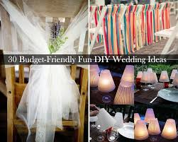 Small Picture 30 Budget Friendly Fun and Quirky DIY Wedding Ideas
