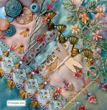 892 best Crazy Quilting images on Pinterest | Crazy patchwork ... & Crazy Quilt Block 99 Pattern and Hand Embroidery Details - Pintangle Adamdwight.com