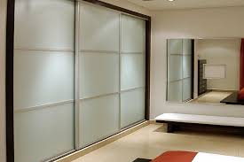 contemporary sliding closet door for bedroom with black border color feat large wall mirror and cool