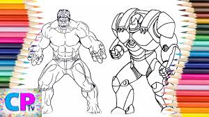 Hulk vs batman coloring pages,unexpected fight between two superheroes,drawing of the heroes. Hulk Vs Iron Man Hulkbuster Coloring Pages Drawing Of Hulk And Iron Man Hulkbuster Competition Youtube