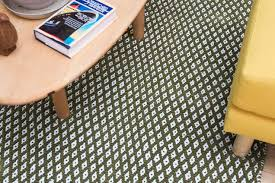 the safavieh ramona rug under a coffee table and yellow couch