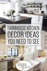 Image Rustic Modern Farmhouse Kitchen Decor Ideas For Remodel Farmhouse Kitchen Counter Cabinets And Sink Mommy Thrives 10 Beautiful Modern Farmhouse Kitchens Mommy Thrives