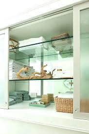 linen cabinet with glass doors bathroom cabinet glass doors built in bathroom cabinet with glass bathroom