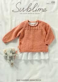 Knitting Pattern Sublime 6169 Baby Cashmere Merino Silk Dk Childs Sweater