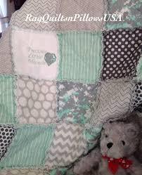 Mint Green Baby, Embroidery Baby Blanket, Camo Quilt, Homemade ... & Mint Green Baby, Embroidery Baby Blanket, Camo Quilt, Homemade Baby Quilt, Handmade  Baby Blanket, Baby Rag Quilt, Nursery, Decor, Rag Quilt Adamdwight.com