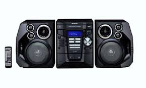 sharp stereo. sharp cd-e99 remanufactured stereo shelf system with 3-cd changer and 4-way 5-speaker d