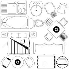 floor plan furniture vector. Icons : Simple Furniture / Floor Plan (Outline) Stock Vector - 12119581 E