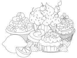 Small Picture Printable Coloring Pages Cupcake Coloring Pages Cupcake Coloring