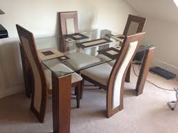 julian bowen glass dining table set