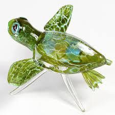 hopko art glass sea turtle with dichro 02