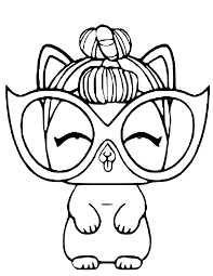 Lol Doll It Kitty Printable Coloring Page Rainbow Playhouse