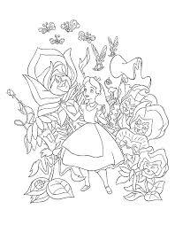 Kleurplaat Alice In Wonderland Alice In Wonderland Kleurplaten