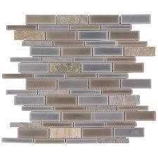 Allen Roth Shimmering Lights Allen Roth Shimmering Lights Linear Mosaic Glass Wall Tile