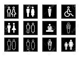 bathroom sign vector. Bathroom Sign Clipart Free Toilet Symbol Vector | Modelismo-hld