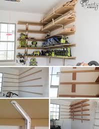 super easy diy garage shelves