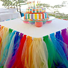 Amazoncom Stuffwholesale Fitted Tulle Table Skirt Baby Shower