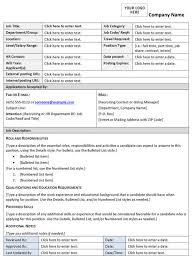 Job Description Template Word Seogreat Info