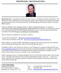 biography brief sample format for a typical brief biography  biography brief sample format