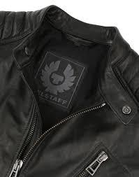 belstaff men s v racer leather blouson jacket black
