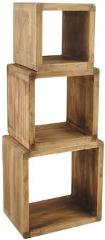 wood cubes furniture. Pacific Lifestyle Columbus Natural Paulownia Wood Cubes (Set Of 3) - Small Furniture