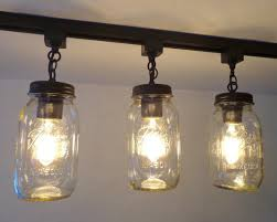 jar lighting fixtures. Mason Jar TRACK LIGHTING New Quart Single Lighting Fixtures O