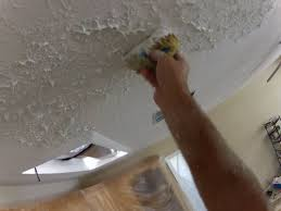 Knockdown Textured Ceiling How To Use A Sponge To Match Knockdown Texture 2 Tape Joint