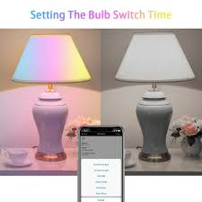 Haodeng Bluetooth Mesh Multicolour Bulb Group Control No Hub Required Suitable For Home Lighting 40 Equivalent B2245w Led Rgbw Light Lamp
