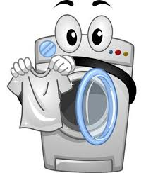 washing machine clipart.  Washing Mascot Illustration Of A Washing Machine Handling White Clean Shirt Inside Clipart S