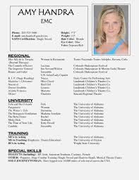 Child Actor Resume Examples Matchboard Co Beginner Actor Resume