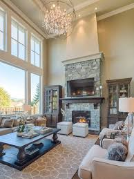 traditional living room ideas with fireplace and tv. Inspiration For A Mid-sized Timeless Open Concept Dark Wood Floor Living Room Remodel In Traditional Ideas With Fireplace And Tv