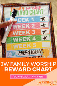 Jw Family Worship Reward Chart Jw Printables