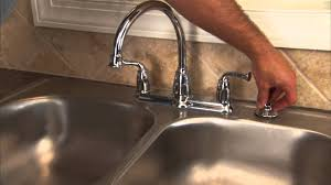 how to install a two handle kitchen faucet step 13 install sprayer you
