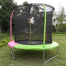 Bounce Pro 12 Trampoline With Flash Light Zone And Enclosure Klb Sport 8 Feet Round Trampoline With Safety Enclosure Age