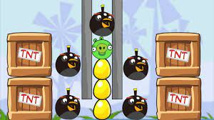 Angry Birds Bomb Bomber Throw Away All Piggies Skill Game - YouTube