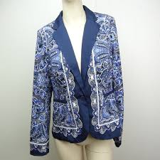 Patterned Blazer Womens Cool Apt 48 Jackets Coats Apt 48 Womens Patterned Blazer Jacket Blue