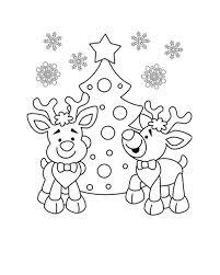 Kerst Kleurplaat Kerstkleurplaat Kerstboom En Rendieren