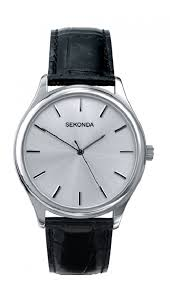 sekonda watch 3099 hollins hollinshead sekonda mens black leather strap watch 3099