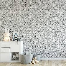 Black Spotty Wallpaper - Ma Petite