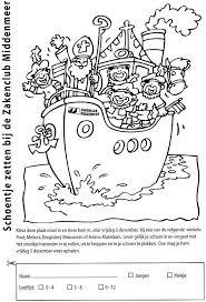 Kleurplaat Sinterklaas In Hoop Van Gevulde Schoen Zakenclub Middenmeer