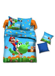 hot super mario bedding set girls twin full size bedding kids duvet cover boys