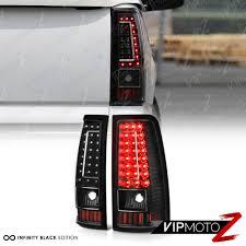 2003-2006 Chevy Silverado 1500 2500 3500 C-SHAPE Black LED Rear ...