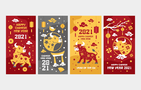 2021 is the year of the ox, but what does this chinese zodiac sign mean? Golden Ox Chinese New Year Greeting Cards Download Free Vectors Clipart Graphics Vector Art