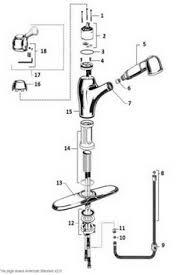 moen pull out faucet repair. Fine Repair American Standard 4210 Standard Single Control Kitchen Pullout Faucet  Repair Technical Part Breakdown Throughout Moen Pull Out Faucet Repair T