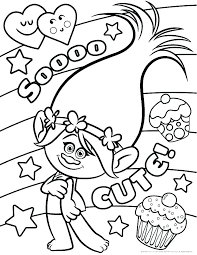 Trolls Coloring Pages Poppy And Branch Acnee