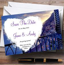 Print Save The Date Cards Amalfi Coast Italy Heart Personalized Wedding Save The Date Cards