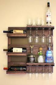 wall mount bar stunning dark cherry stained wall mounted wine by wall mounted bar table diy